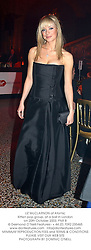 LIZ McCLARNON of Atomic Kitten pop group, at a ball in London on 20th October 2003.<br /> PNR 8