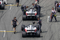 July 22, 2018 - Hockenheim, Germany - Motorsports: FIA Formula One World Championship 2018, Grand Prix of Germany, . Starting Grid, #20 Kevin Magnussen (DEN, Haas F1 Team), #8 Romain Grosjean (FRA, Haas F1 Team) (Credit Image: © Hoch Zwei via ZUMA Wire)