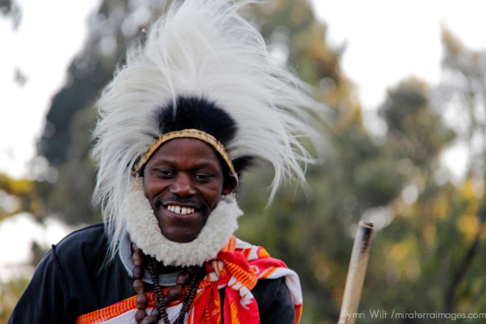 Africa, Kenya, Nanyuki. Kikuyu dancer at the Mt. Kenya Safari Club.