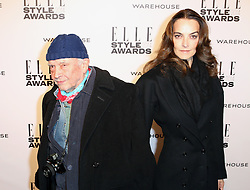 © Licensed to London News Pictures. 18/02/2014, UK. David Bailey; Catherine Bailey, ELLE Style Awards, One Embankment, London UK, 18 February 2014. Photo credit : Richard Goldschmidt/Piqtured/LNP