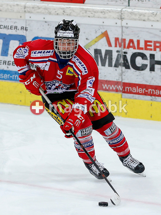 Rapperswil-Jona Lakers defenseman Janis MANSER is pictured during a Novizen Elite ice hockey game between Rapperswil-Jona Lakers and SC Bern Future held at the Diners Club Arena in Rapperswil, Switzerland, Saturday, Feb. 6, 2016. (Photo by Patrick B. Kraemer / MAGICPBK)