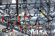 Mercedes-AMG GmbH engine production factory in Affalterbach in Bavaria, Germany - precision tools suspended from ceiling