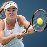 August 21, 2016, New Haven, Connecticut: <br /> Elina Svitolina of Ukraine in action during Day 3 of the 2016 Connecticut Open at the Yale University Tennis Center on Sunday, August  21, 2016 in New Haven, Connecticut. <br /> (Photo by Billie Weiss/Connecticut Open)