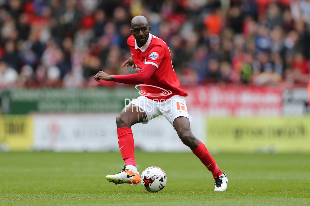 Charlton Athletic midfielder Alou Diarra (12) during the Sky Bet Championship match between Charlton Athletic and Brighton and Hove Albion at The Valley, London, England on 23 April 2016.
