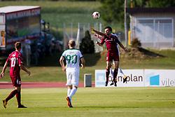 Matej Poplatnik of NK Triglav Kranj during football match between NK Triglav Kranj and NK Olimpija Ljubljana in 4th Round of Prva liga Telekom Slovenije 2017/18, on August 5, 2017 in Dravograd, Slovenia. Photo by Ziga Zupan / Sportida