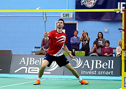 Chris Coles (Capt) of Bristol Jets in action against the Surrey Smashers - Photo mandatory by-line: Robbie Stephenson/JMP - 06/02/2017 - BADMINTON - SGS Wise Arena - Bristol, England - Bristol Jets v Surrey Smashers - AJ Bell National Badminton League