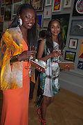 JENNIFER EWAH; CATIA GOMEZ, Royal Academy of  Arts Annual Summer Exhibition private view. Piccadilly. London. 30 May 2012.