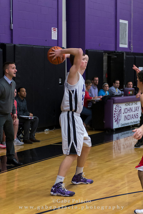 John Jay Varsity Basketball game vs. Fox Lane at John Jay High School on January 5, 2015. (photo by Gabe Palacio)