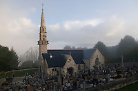 Saint-Budoc church in Tregarvan, Finistere, Brittany, France.