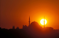 Sultan Selim Mosque at Sunset - Istanbul - Photograph by Owen Franken