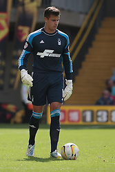 Nottingham Forest's Karl Darlow   - Photo mandatory by-line: Nigel Pitts-Drake/JMP - Tel: Mobile: 07966 386802 25/08/2013 - SPORT - FOOTBALL -Vicarage Road Stadium - Watford -  Watford v Nottingham Forest - Sky Bet Championship