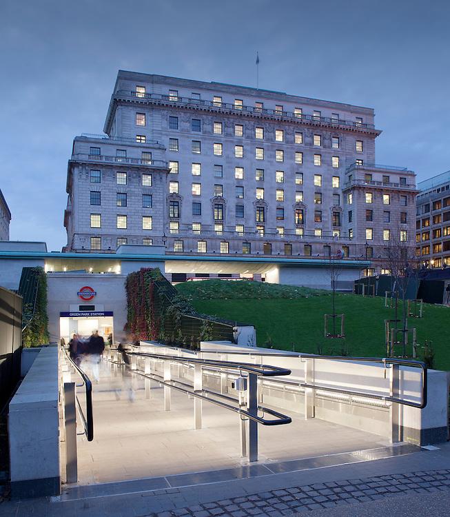 Green Park Underground station, green park , london by Feilden and Mawson architects