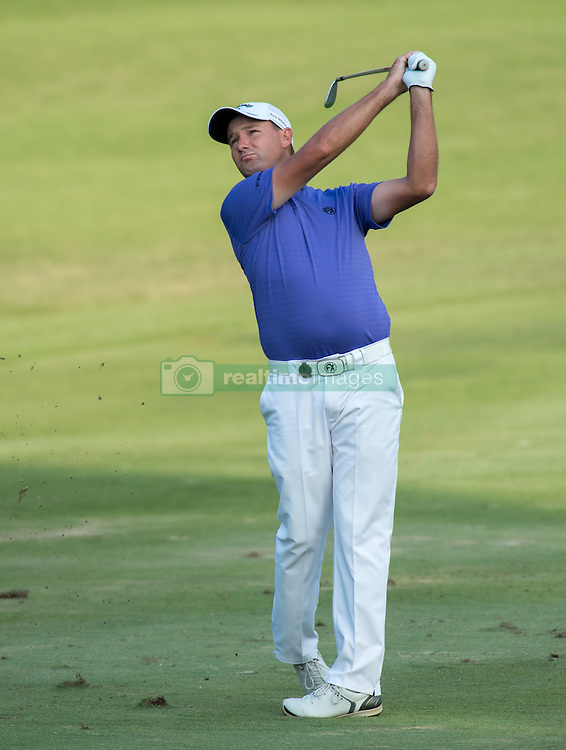 December 11, 2016 - Hong Kong, Hong Kong S.A.R, China - Final round of the 58th Hong Kong Open at The Hong Kong Golf Club Fanling, Hong Kong, Hong Kong SAR, China. Sam Brazel takes the trophy by one stroke with a birdie on the 18th. Brazil on the fairway (Credit Image: © Jayne Russell via ZUMA Wire)