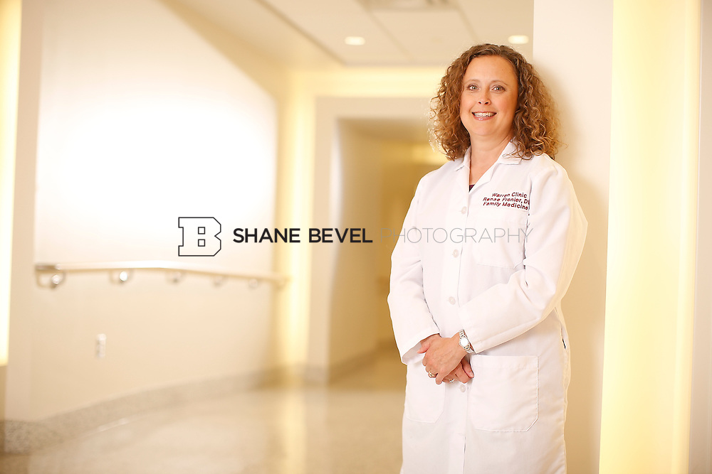 5/28/15 4:20:18 PM -- Dr. Renee Frenier of Saint Francis Health System poses for a portrait for the 2015 Advertising Campaign. <br /> <br /> Photo by Shane Bevel