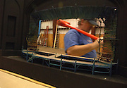 Workers make the set for the Color Purple at Hudson Scenic Studio Inc. in Yonkers, NY. 10/5/2005 Photo by Jennifer S. Altman
