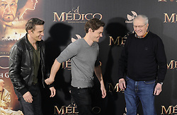 (L-R)  Olivier Martinez, Tom Payne and  Noah Gordon attends 'The Physician' photocall on December 19, 2013 in Madrid, Spain. Picture by DyD Fotografos / i-Images.<br /> <br /> SPAIN OUT