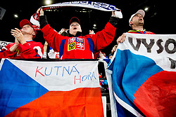 Supporters of Czech republic celebrate during the 2017 IIHF Men's World Championship group B Ice hockey match between National Teams of Finland and Czech Republic, on May 8, 2017 in Accorhotels Arena in Paris, France. Photo by Vid Ponikvar / Sportida