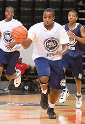 PG Junior Cadougan (Humble, TX / Christian Life Center). The NBA Player's Association held their annual Top 100 basketball camp at the John Paul Jones Arena on the Grounds of the University of Virginia in Charlottesville, VA on June 20, 2008