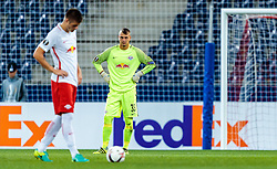 15.09.2016, Red Bull Arena, Salzburg, AUT, UEFA EL, FC Red Bull Salzburg vs FC Krasnodar, Gruppe I, 1. Runde, im Bild Duje Caleta-Car (FC Red Bull Salzburg), Alexander Walke (FC Red Bull Salzburg) //during the UEFA Europa League, group I, 1st round match between FC Red Bull Salzburg and FC Krasnodar at the Red Bull Arena in Salzburg, Austria on 2016/09/15. EXPA Pictures © 2016, PhotoCredit: EXPA/ JFK