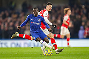 Chelsea midfielder N'golo Kanté (7) during the Premier League match between Chelsea and Arsenal at Stamford Bridge, London, England on 21 January 2020.