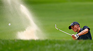 Linn-Mar's Jack Recker hits from a sand trap on the sixth hole during the second round of the 2016 Rotary Pribyl Junior Boys Golf Tournament at the Cedar Rapids Country Club in Cedar Rapids on Tuesday, Aug. 2, 2016.