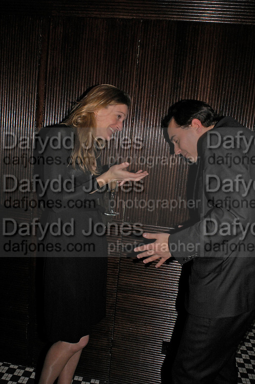 Rachel Whetstone and Dominic Johnson. Conservative fund raising dinner hosted  by Marco Pierre White and Franki Dettori at  Frankie's. Knightsbridge. 17 January 2004. ONE TIME USE ONLY - DO NOT ARCHIVE  © Copyright Photograph by Dafydd Jones 66 Stockwell Park Rd. London SW9 0DA Tel 020 7733 0108 www.dafjones.com