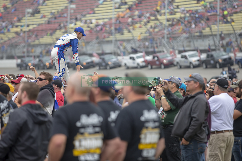 June 10, 2018 - Brooklyn, Michigan, United States of America - AJ Allmendinger (47) waits for the start of the FireKeepers Casino 400 during a weather delay at Michigan International Speedway in Brooklyn, Michigan. (Credit Image: © Stephen A. Arce/ASP via ZUMA Wire)