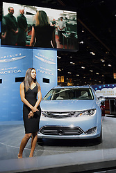 11 February 2016: Chrysler Pacifica.<br /> <br /> First staged in 1901, the Chicago Auto Show is the largest auto show in North America and has been held more times than any other auto exposition on the continent.  It has been  presented by the Chicago Automobile Trade Association (CATA) since 1935.  It is held at McCormick Place, Chicago Illinois<br /> #CAS16