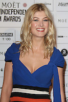 Rosamund Pike The Moet British Independent Film Awards, Old Billingsgate Market, London, UK, 05 December 2010:  Contact: Ian@Piqtured.com +44(0)791 626 2580 (Picture by Richard Goldschmidt)