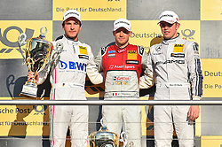 v.l. Rennergebnis: 2.Platz Christian Vietoris (Mercedes-AMG DTM Team Mücke), Sieger Edoardo Mortara (Audi Sport Team Abt Sportsline), 3.Platz Paul Di Resta (Mercedes-AMG DTM Team HWA)  beim DTM Saisonfinale in Hockenheim<br /> <br />  / 161016<br /> <br /> ***German Touring Car Championship in Hockenheim, Germany, October 16, 2016 ***