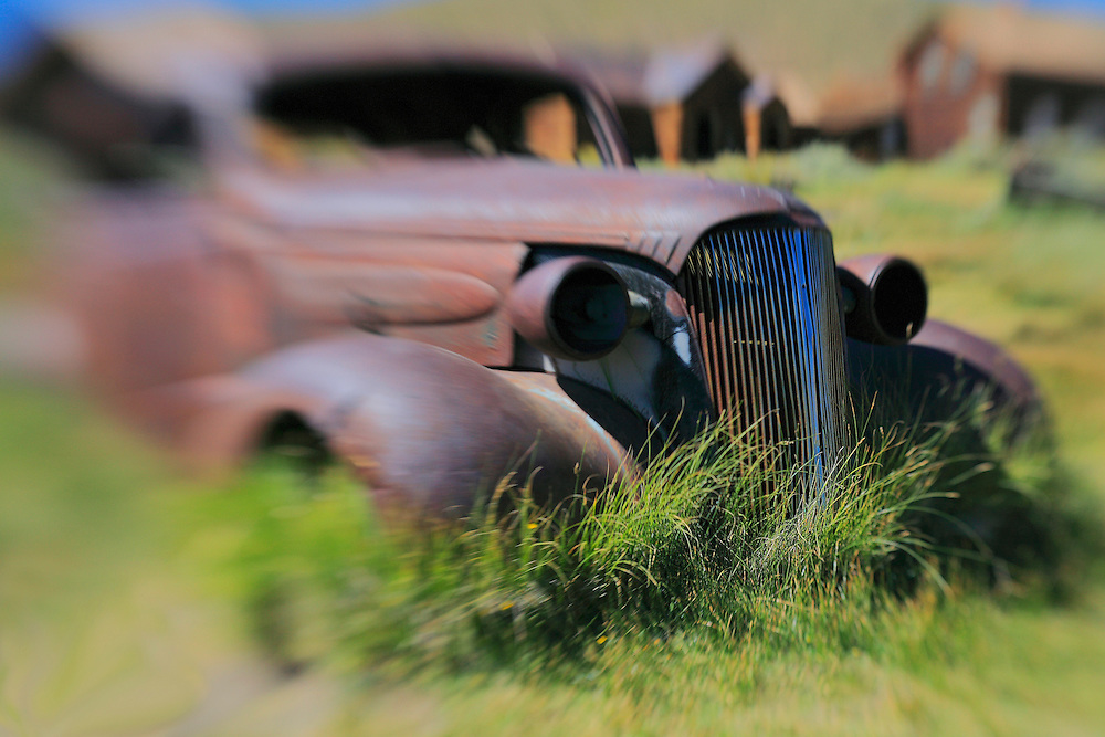 Abandoned Car - Bodie, CA - Lensbaby
