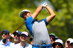 May 16, 2019 - Farmingdale, NY, U.S. - FARMINGDALE, NY - MAY 16:  Xander Schauffele of the United States on the 6th Tee during the first round of the 2019 PGA Championship at the Bethpage Black course on May 16, 2019 in Farmingdale, New York. (Photo by Rich Graessle/Icon Sportswire) (Credit Image: © Rich Graessle/Icon SMI via ZUMA Press)