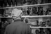 A local shop selling fascist memorabilia. About 2000 fascists gathered in Predappio, Italy to commemorate the annivrsary of the 'Marcia su Roma' A march held on October 28th 1922 and marked the start of the Italian fascit era .Federico Scoppa