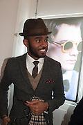 MARTELL CAMPBELL, Black Eye eyewear's 1st Birthday, 38 Goodge Street,  London. W1. 16 January 2014.