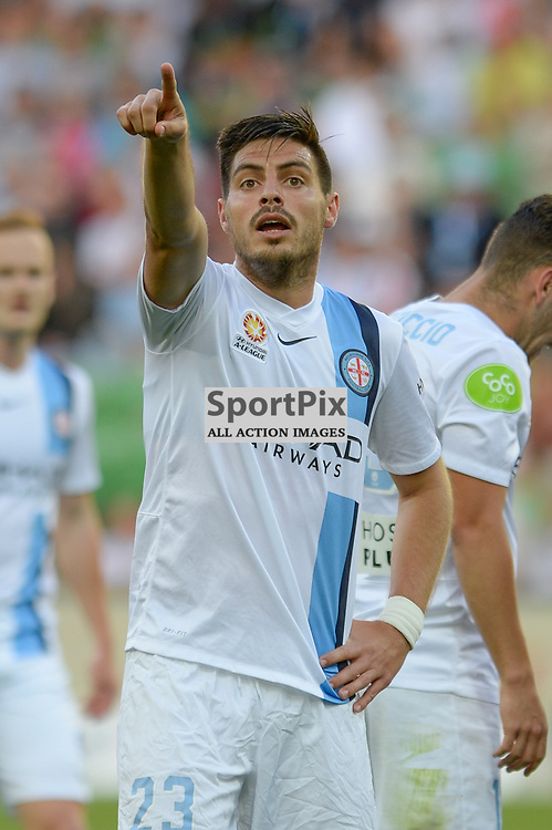 Bruno Fornaroli of Melbourne City disputes a call during the Hyundai A-League, January 9th 2016, RD14 match between Melbourne City FC v Western Sydney Wanderers FC at Aami Park in a 3:2 win to City. Melbourne, Australia. © Mark Avellino | SportPix.org.uk