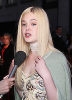 LONDON - OCTOBER 13: Elle Fanning attended the screening of 'Ginger And Rosa' at the Odeon West End, Leicester Square, London, UK. October 13, 2012. (Photo by Richard Goldschmidt)