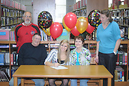 Lafayette High soccer player Karly Massengill signs to play soccer for Northwest Community College, in Oxford, Miss. on Wednesday, January 25, 2012.