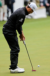September 10, 2018 - Newtown Square, Pennsylvania, United States - Xander Schauffele putts the 18th green during the final round of the 2018 BMW Championship. (Credit Image: © Debby Wong/ZUMA Wire)