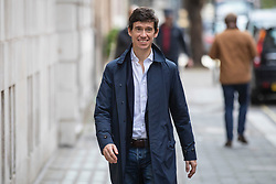 © Licensed to London News Pictures. 04/10/2019. London, UK. Former Conservative Party leadership contender Rory Stewart in Westminster. He has announced his resignation from the Conservative Party and has said he will stand down as an MP at the next general election. Photo credit: Rob Pinney/LNP