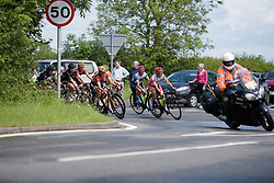 Cervélo Bigla and Boels Dolmans lead the peloton through the Warwickshire countryside - Stage 3 of the OVO Energy Women's Tour - a 151 km road race, between Atherstone and Royal Leamington Spa on June 9, 2017, in Warwickshire, United Kingdom. (Photo by Sean Robinson/Velofocus.com)