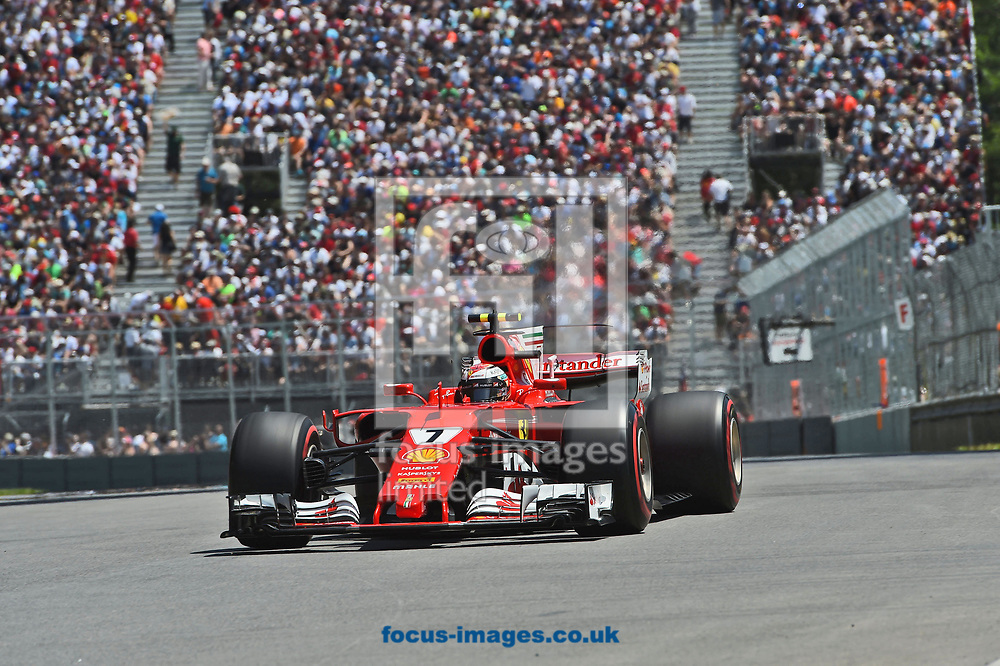 Kimi Raikkonen of Scuderia Ferrari during the Canadian Formula One Grand Prix qualifying session at the Circuit Gilles Villeneuve, Montreal<br /> Picture by EXPA Pictures/Focus Images Ltd 07814482222<br /> 10/06/2017<br /> *** UK &amp; IRELAND ONLY ***<br /> <br /> EXPA-EIB-170610-0465.jpg