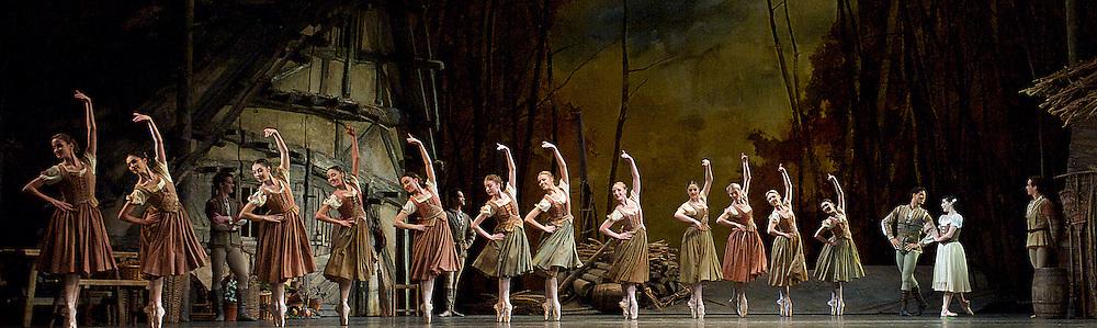 Giselle<br /> The Royal Ballet <br /> at The Royal Opera House, Covent Garden, London, Great Britain <br /> 16th January 2014 <br /> pre-general rehearsal <br /> <br /> <br /> Carlos Acosta as Albrecht <br /> <br /> Natalia Osipova as Giselle <br /> <br /> Thomas Whitehead as Hilarion <br /> <br /> Deirdre Chapman as Berthe<br /> <br /> Christina Arestis as Bathilde<br /> <br /> Johannes Stepanek as Wilfred<br /> <br /> Christopher Saunders as Duke<br /> <br /> Hikaru Kobayashi as Queen on the Wilis<br /> <br /> Elizabeth Harrod as Moyna<br /> <br /> Akane Takada as Zulme<br /> <br /> Alastair Marriott as Leader of the Hunt <br /> <br /> <br /> <br /> <br /> Photograph by Elliott Franks