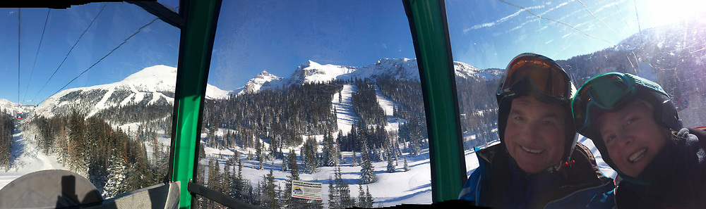 Banff ski trip. Skiing at Sunshine Village.   ©2019 Karen Bobotas Photographer