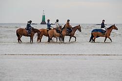 Beach ride in the morniong<br /> Jumping International de La Baule 2019<br /> © Hippo Foto - Dirk Caremans<br /> 16/05/2019