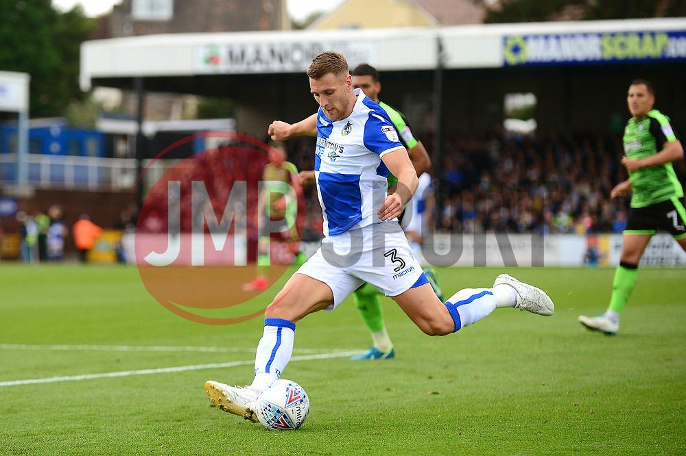 Lee Brown of Bristol Rovers prepares to cross the ball - Mandatory by-line: Dougie Allward/JMP - 30/09/2017 - FOOTBALL - Memorial Stadium - Bristol, England - Bristol Rovers v Plymouth Argyle - Sky Bet League One