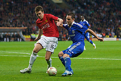 MOSCOW, RUSSIA - Wednesday, May 21, 2008: Manchester United's Michael Carrick and Chelsea's Frank Lampard during the UEFA Champions League Final at the Luzhniki Stadium. (Photo by David Rawcliffe/Propaganda)