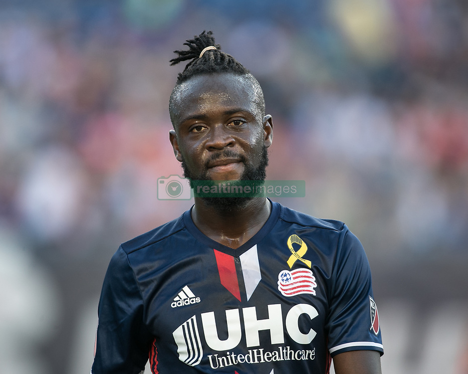 September 23, 2017 - Foxborough, Massachusetts - September 23, 2017:  The New England Revolution (blue/white) beat the Toronto FC (red) 2-1 in a Major League Soccer (MLS) match at Gillette Stadium. (Credit Image: © Tim Bouwer/ISIPhotos via ZUMA Wire)