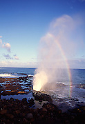 Spouting Horn, Blowhole, Poipu, Kauai, Hawaii<br />