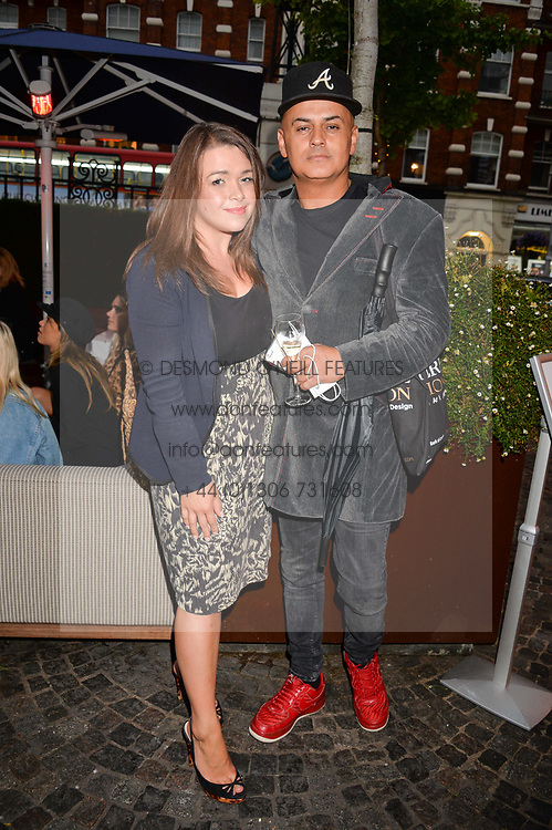 Emma Jacob and Stuart Watts at the Aspall Tennis Classic Players Party hosted by Aspall and Taylor Morris Eyewear at Bluebird, 350 King's Road, Chelsea, London England. 28 June 2017.