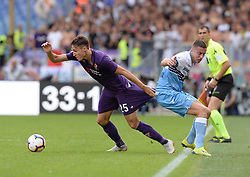 October 7, 2018 - Rome, Italy - Federico Chiesa and Adam Marusic during the Italian Serie A football match between S.S. Lazio and Fiorentina at the Olympic Stadium in Rome, on october 07, 2018. (Credit Image: © Silvia Lore/NurPhoto/ZUMA Press)